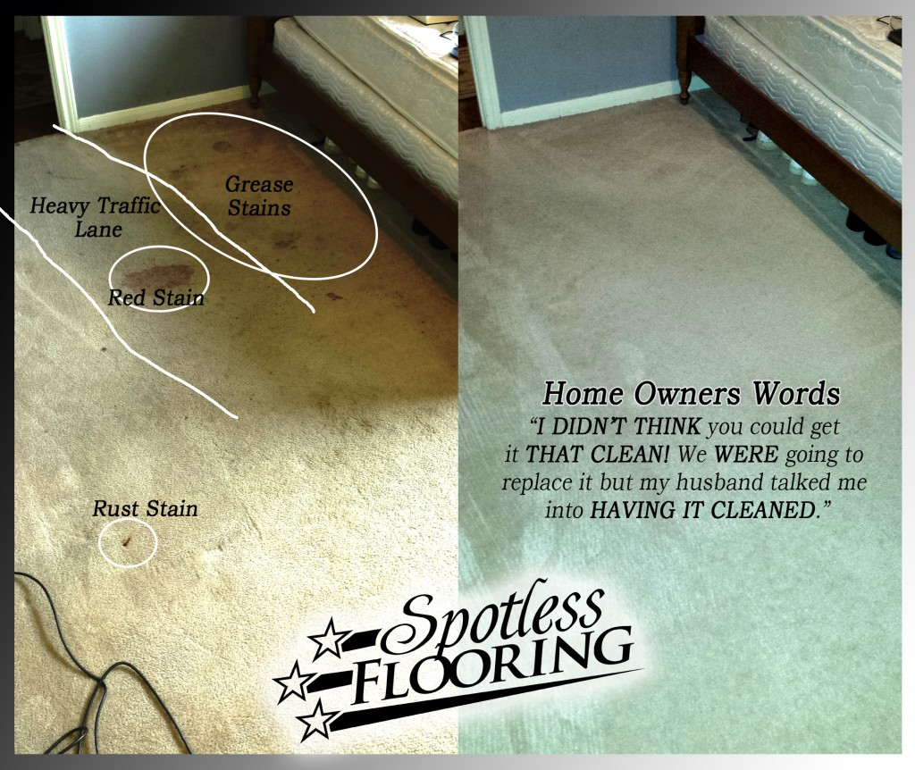 Carpet Cleaning League City Before and After