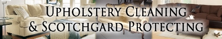 Upholstery cleanin & scotchgard protecting