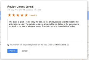 Reviewing a Company on Google+