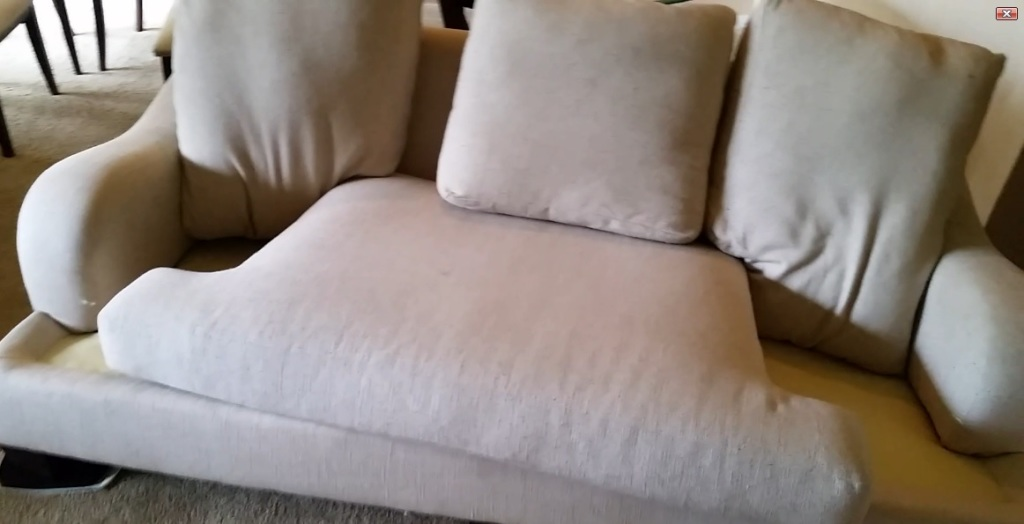 Shrinking or fading may occur upholstery