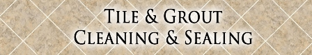 Tile & Grout clean & seal banner